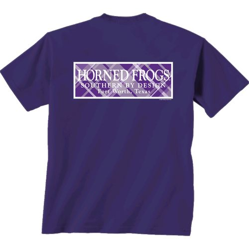 New World Graphics Women's Texas Christian University Madras T-shirt