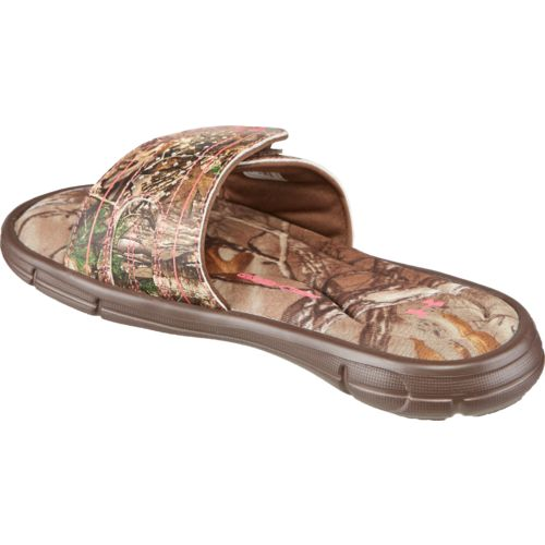 Under Armour Girls' Ignite Camo VII Sports Slides - view number 3