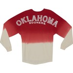 NCAA Women's University of Oklahoma Ombré Tribal Football T-shirt