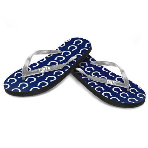 Forever Collectibles™ Women's Indianapolis Colts 2016 Glitter Logo Flip-Flops