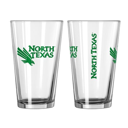 Boelter Brands University of North Texas Game Day 16 oz. Pint Glasses 2-Pack