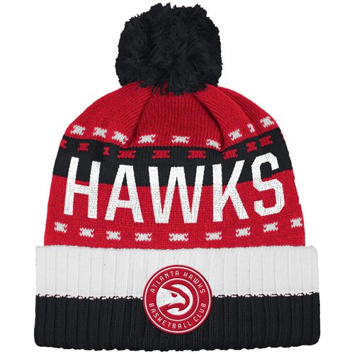 adidas™ Men's Atlanta Hawks Cuffed Pom Knit Hat