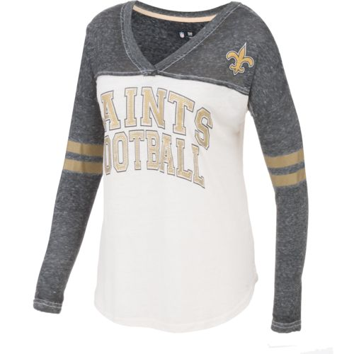 G-III for Her Women's New Orleans Saints Field Position Long Sleeve T-Shirt