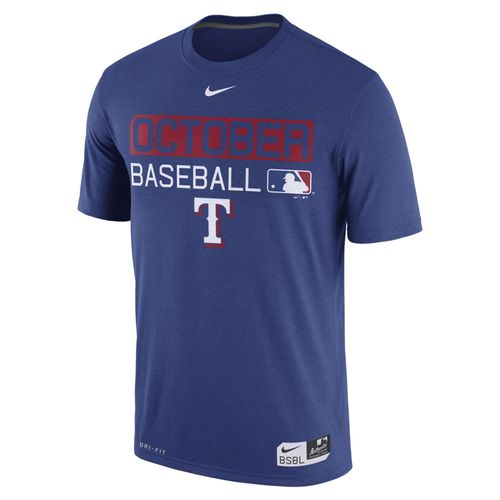 Nike men 39 s texas rangers october baseball t shirt academy for Texas baseball t shirt
