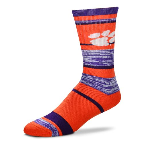 FBF Originals Men's Clemson University Striped Crew Socks