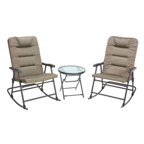 Mosaic 3-Piece Oversize Folding Rocker Set
