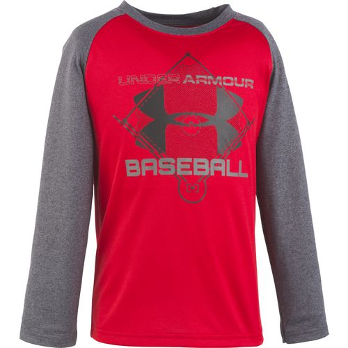 Under Armour Boys' Baseball Raglan Long Sleeve T-shirt