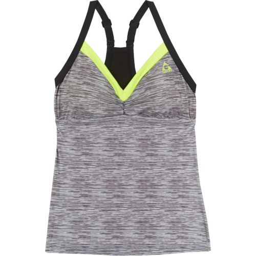 Gerry Women's Mesh Back Adjustable Strap Tankini Swim Top