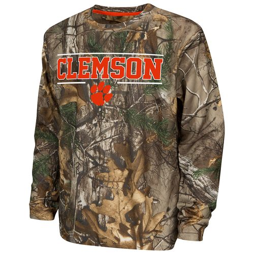 Colosseum Athletics™ Boys' Clemson University Pointer Long Sleeve Camo Shirt