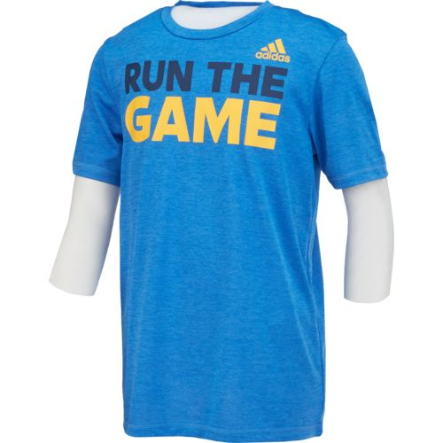adidas Boys' Run the Game climalite T-shirt
