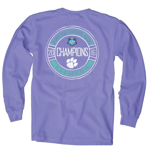 Blue 84 Women's Clemson University 2016 ACC Football Champions Long Sleeve T-shirt