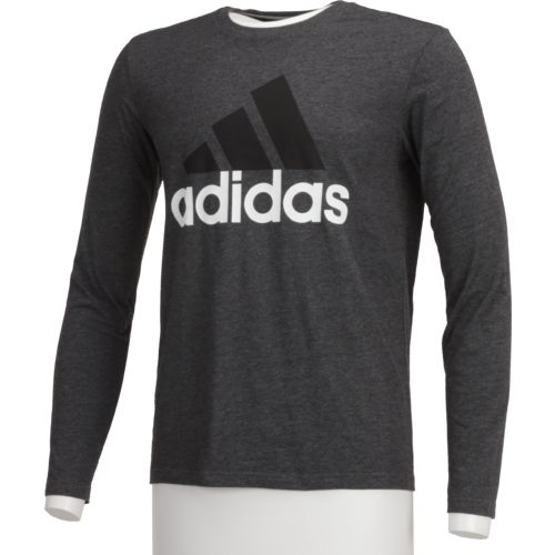 adidas™ Men's Badge of Sport Long Sleeve Fitted