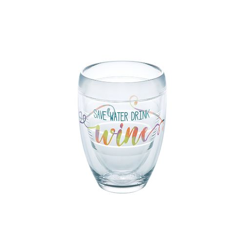 Tervis Save Water Drink Wine 9 oz. Stemless Wine Glass