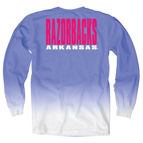 Blue 84 Women's University of Arkansas Ombré Long Sleeve Shirt