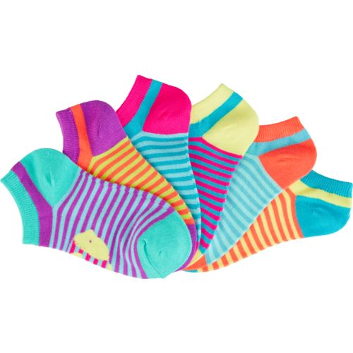 BCG Girls' Optical Illusion Animals No-Show Socks 6 Pairs - view number 3