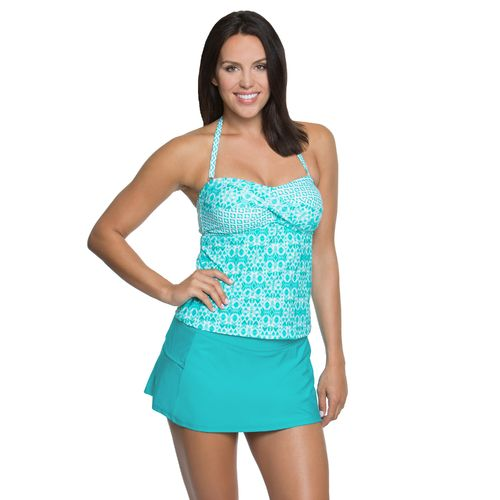 Aqua Couture Women's Arabian Tiles Bandeaukini Swim Top