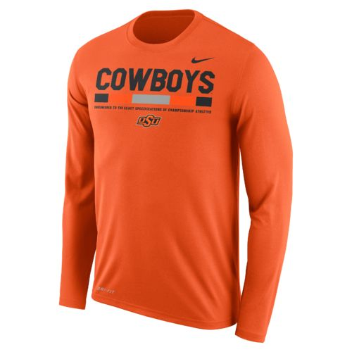 Nike Men's Oklahoma State University Dry Legend Long Sleeve Staff T-shirt