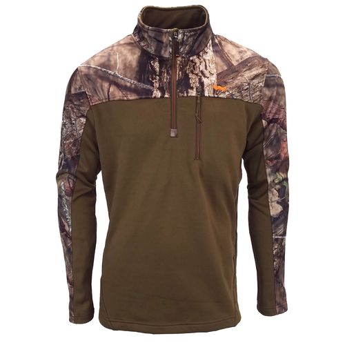 Walls Men's Fleece Lifestyle 1/4 Zip Camo Pullover