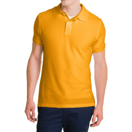 Lee Young Men's Short Sleeve Pique Polo Shirt
