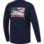 Guy Harvey Men's Black Magic Long Sleeve Pocket T-shirt - view number 2