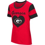 Colosseum Athletics Girls' University of Georgia Bronze Medal Short Sleeve T-shirt - view number 1