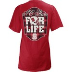 Three Squared Juniors' North Carolina State University Team For Life Short Sleeve V-neck T-shirt - view number 1