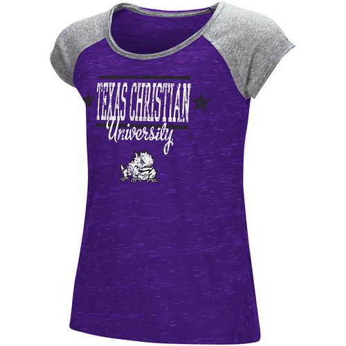 Colosseum Athletics Girls' Texas Christian University Sprints T-shirt