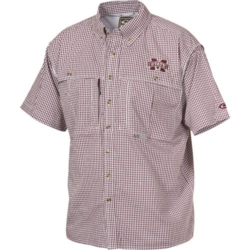 Drake Waterfowl Men's Mississippi State University Gameday Wingshooter's Button-Down Shirt