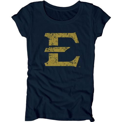 Blue 84 Juniors' East Tennessee State University Mascot Soft T-shirt