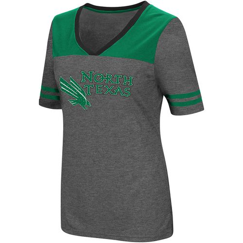 Colosseum Athletics Women's University of North Texas Twist V-neck 2.3 T-shirt - view number 1