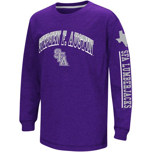 Colosseum Athletics Boys' Stephen F. Austin State University Grandstand Long Sleeve T-shirt
