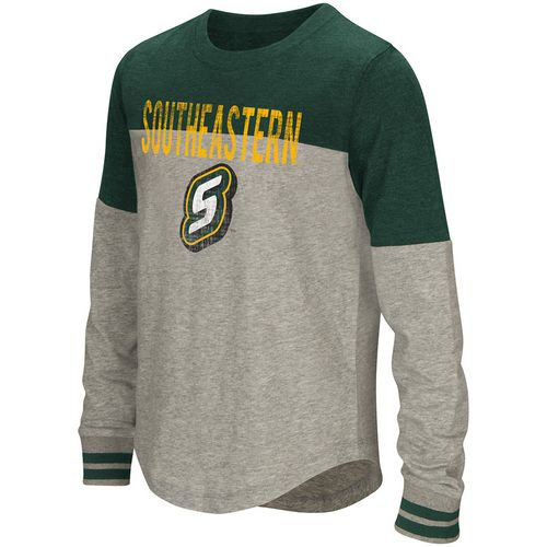 Colosseum Athletics Girls' Southeastern Louisiana University Baton Long Sleeve T-shirt