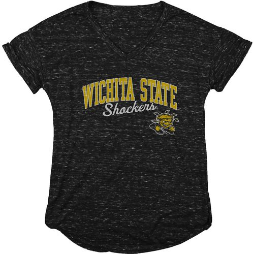 Blue 84 Women's Wichita State University Dark Confetti V-neck T-shirt