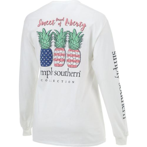 Stock Quote Southern Company: Simply Southern Women's Long Sleeve Pineapple T-shirt
