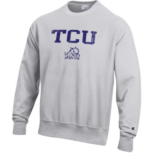 Champion Men's Texas Christian University Reverse Weave Crew Sweatshirt