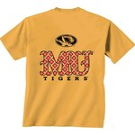 New World Graphics Women's University of Missouri Comfort Color Initial Pattern T-shirt - view number 1