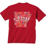 New World Graphics Women's Arkansas State University Comfort Color Puff Arch T-shirt - view number 1