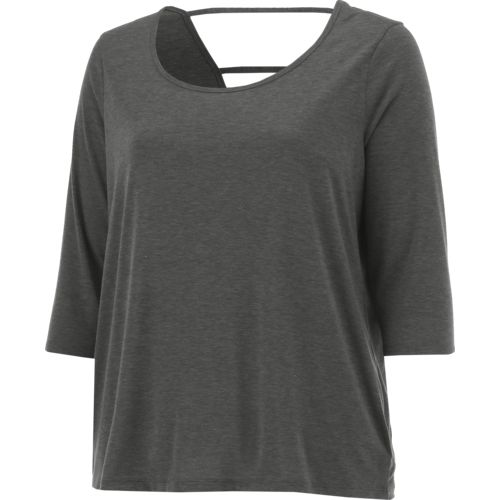 BCG Women's Strappy Back Plus Size 3/4 Sleeve T-shirt - view number 3