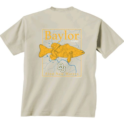 New World Graphics Men's Baylor University Angler Topo Short Sleeve T-shirt