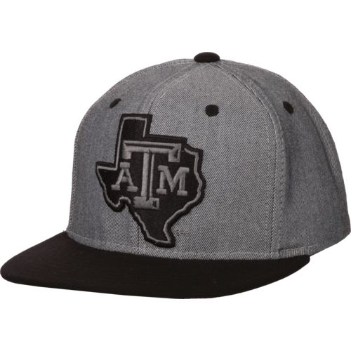 adidas Men's Texas A&M University 2-Tone Tonal Flat-Brim Snapback Cap - view number 2