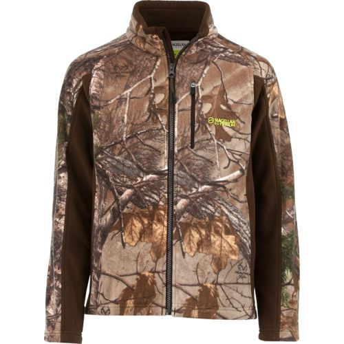 Magellan Outdoors Kids' Blue Ridge Camo Fleece Jacket