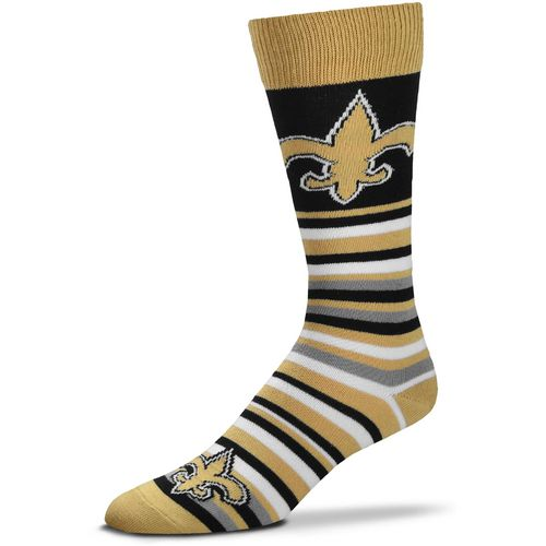 For Bare Feet New Orleans Saints Lotta Stripe Thin Knee High Dress Socks