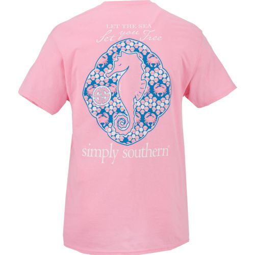 Simply Southern Women's Seahorse Short Sleeve T-shirt