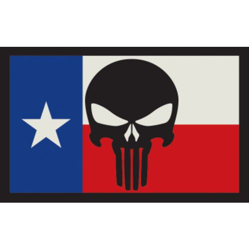 SME Texas Flag with Punisher Hook-and-Loop Patch