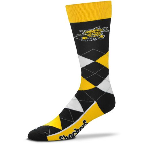 For Bare Feet Men's Wichita State University 505 Argyle Line Up Socks
