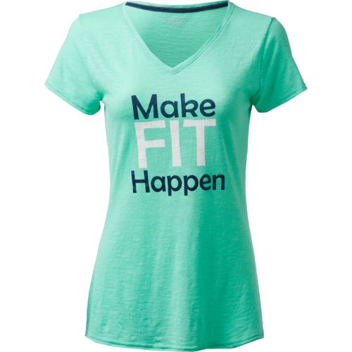 BCG Women's Make Fit Happen Graphic V-neck T-shirt - view number 2