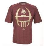 adidas Men's Texas State University Sideline Helmet Short Sleeve T-shirt