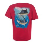 Guy Harvey Men's Sailfish Spiral Short Sleeve Pocket T-shirt