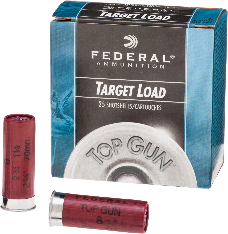 Display product reviews for Federal Premium® Top Gun® Target 12 Gauge 8 Shotshells