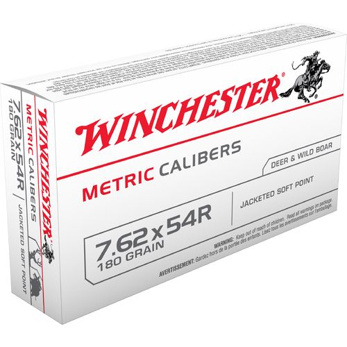 Winchester Jacketed Soft Point 7.62 x 54R 180-Grain
